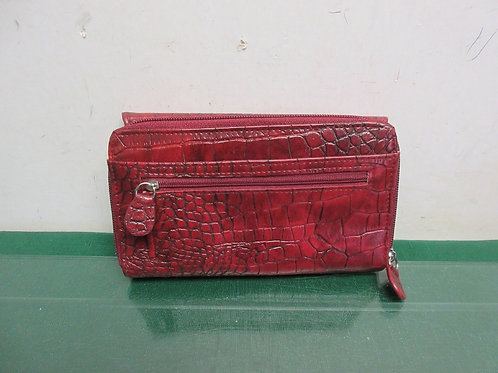Croft & Barrow red faux leather large wallet