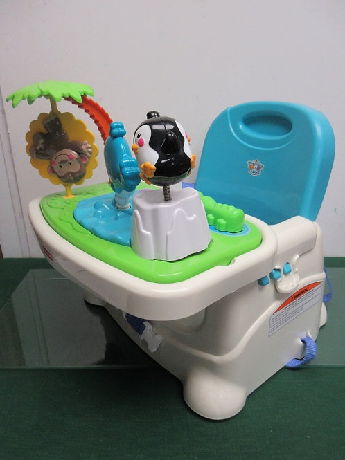 Precious planet baby booster seat with eating tray & toy insert