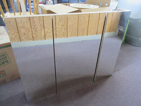 "Kleankin large triple mirror, 3 dor medicine cabinet with led lights 24x36"""