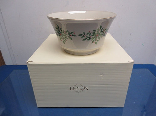 Lenox footed Holiday bowl, in box