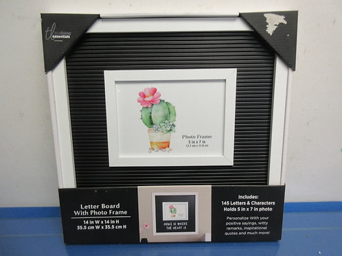 True living essentials, letter board with photo frame, includes 145 letters,