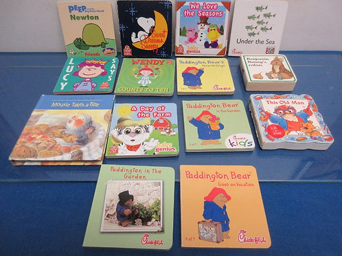 Set of 14 assorted small story books, Paddington books, We love seasons, and mor