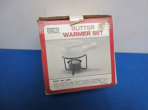 Set of 4 individual butter warmers