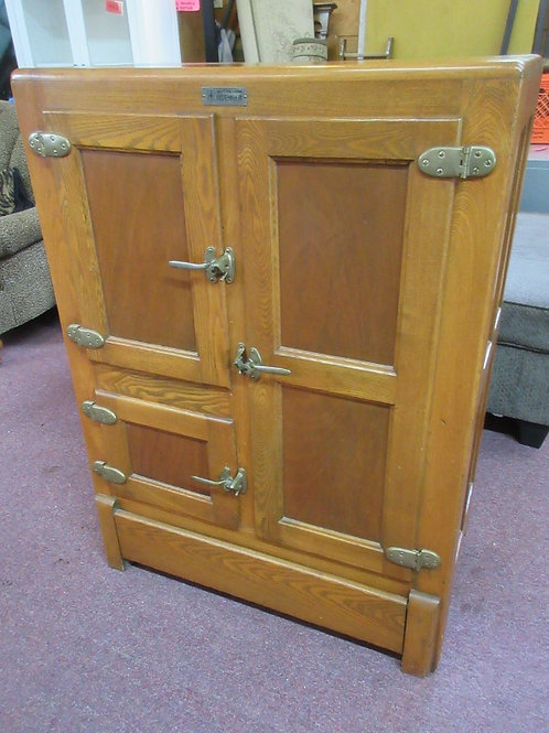 Antique McKee Household oak ice chest style cabinet