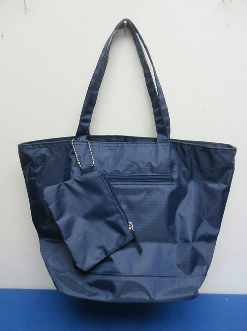 Medium size navy blue purse with attached change purse-new
