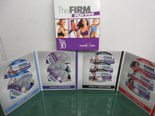The Firm Express set of 13 dvd, get thin in 30 exercise set