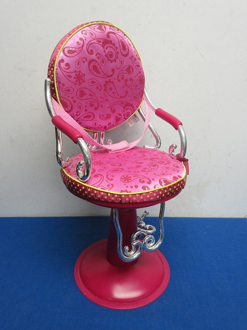 """Our Generation pink salon chair - fits 18"""" doll"""