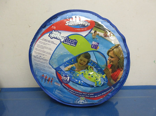 SwimWays, baby spring float activity center with sun shade, 9-24months