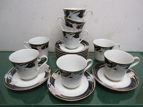 Mikassa Charisma set of 8 cups and saucers