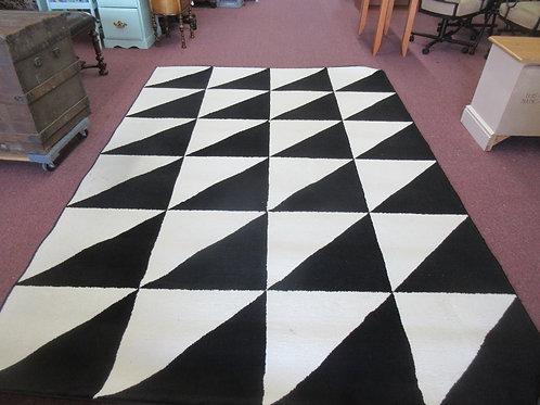 "Ikea black and white area rug, 6'7"" x 9'10"""