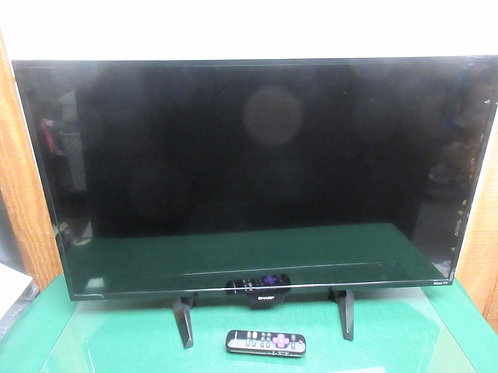 "Sharp flat screen 32"" TV with remote"