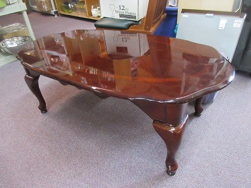 """Cherry queen anne oval coffee table 24x45x16""""tall"""