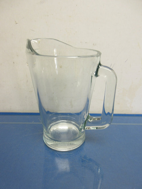 Clear glass heavy pitcher