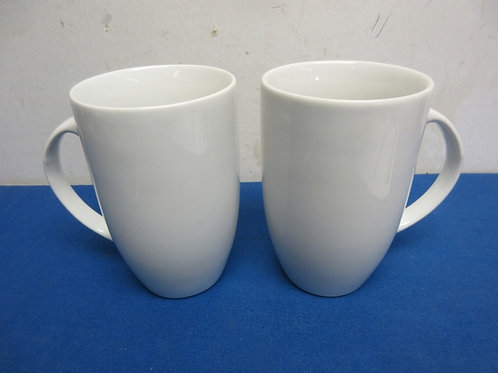 Pair of tall white mugs