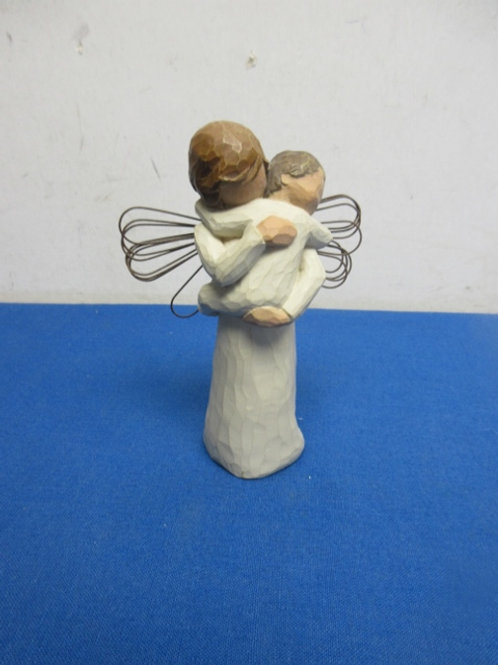 """Willow tree angel statue - embrace standing holding child 5"""""""