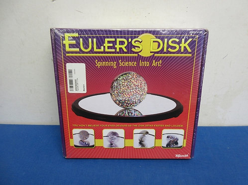 """Euler's disk """"spinning science into art""""- New/Sealed"""