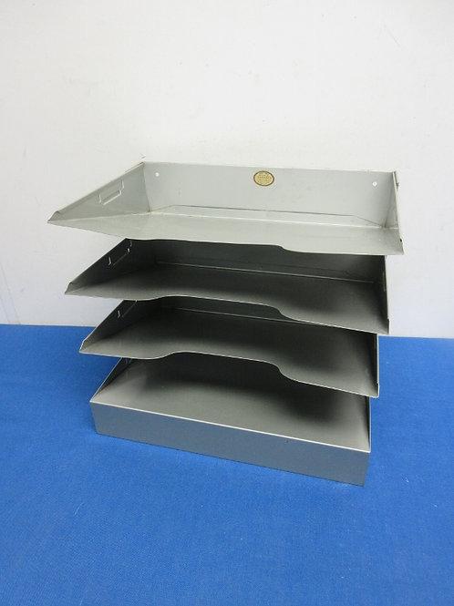Metal 4 tier desktop file organizer