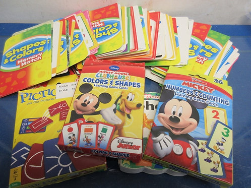 Large assortment of children's flash cards