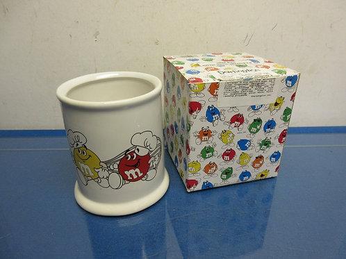"""M&M ceramic utensil holder 5"""" high"""