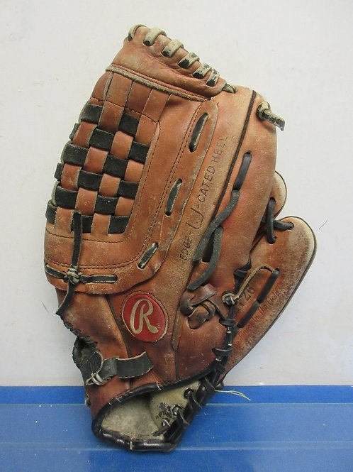 Larger size right handed baseball glove