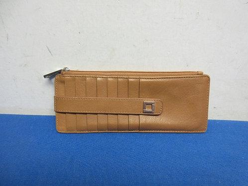 Lotis RFID protected credit card holder - slim - brown italian leather
