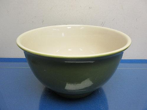 "Large Tag Stoneware, green mixing bowl 11""dia x 6""high"