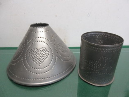 Punched tin candle holder base & shade included, No pillar candle