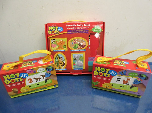 Hot Dots Jr. interactive story book set - fairytale favorites, alphabet & number