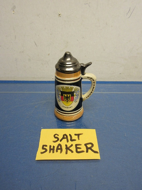 "German beer stein salt shaker 4.5"" high"