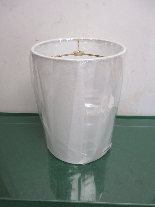 """White tall cylinder style lamp shade - 11"""""""