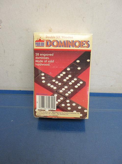 Vintage Pavilion Dominoes game