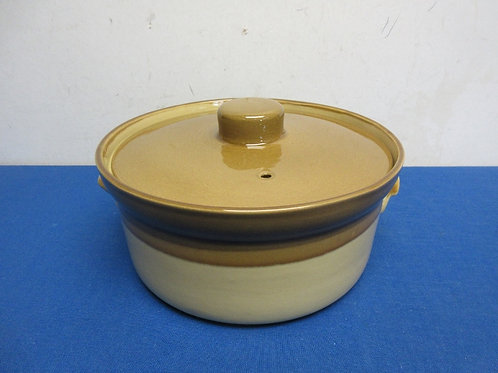 Vintage Granville pottery casserole with lid