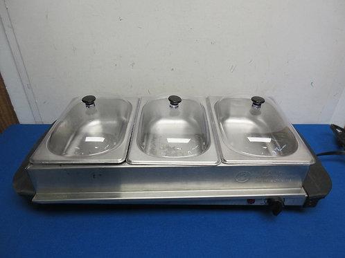 Nostalgia electri buffet server with warming tray