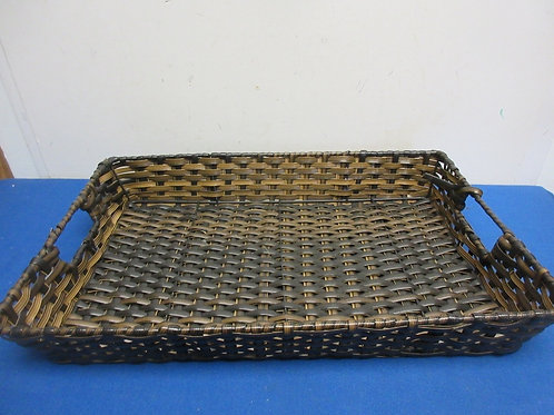"""Rectangular dark woven basket 12x19x3""""deep"""