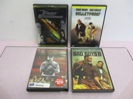 "set of 4 dvd's - ""Bad Boys II"", ""Bulletproof"", ""The Fast and the Furious"", ""Get"