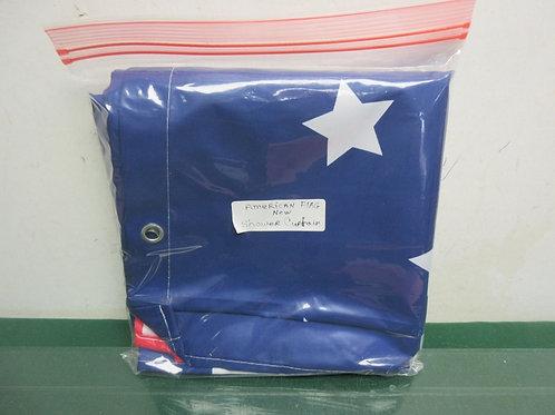 American flag design shower curtain, New