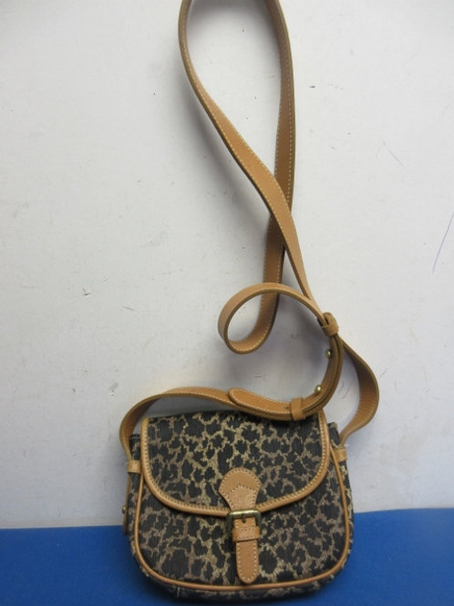 Anne Klien animal print cross body purse, with change purse