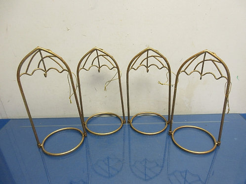 Set of 4 gold tabletop standing display ornament hangers