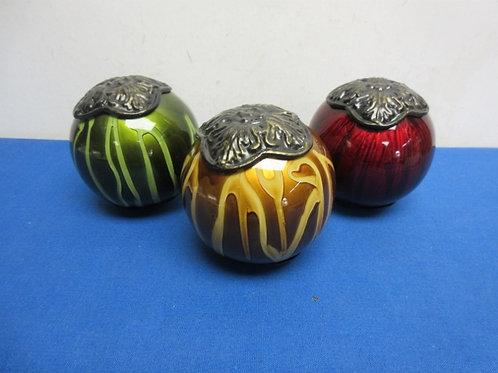 Set of  decorative glass orbs