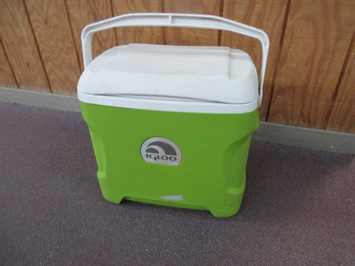 """Igloo white and lime green cooler chest, 10x17x17""""tall"""