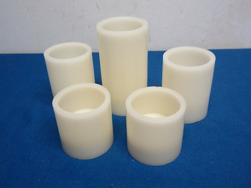 Set of 5 smaller size battery candles