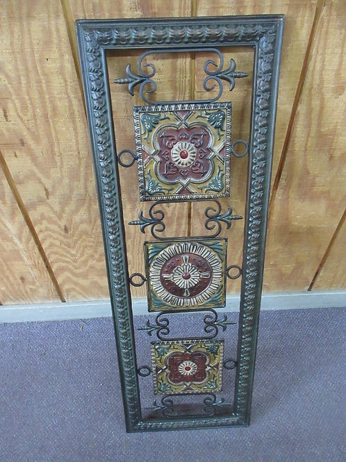 Vertical metal ornate wall art, 13x38