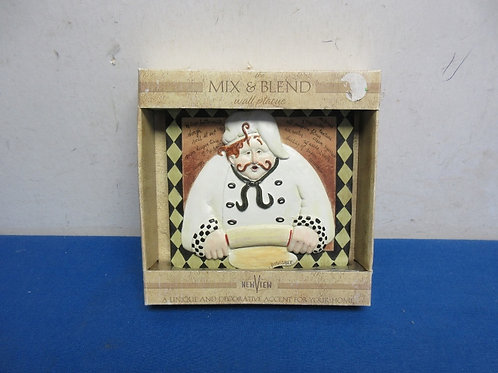 New view small chef wall plaque with recipe on it, new in box