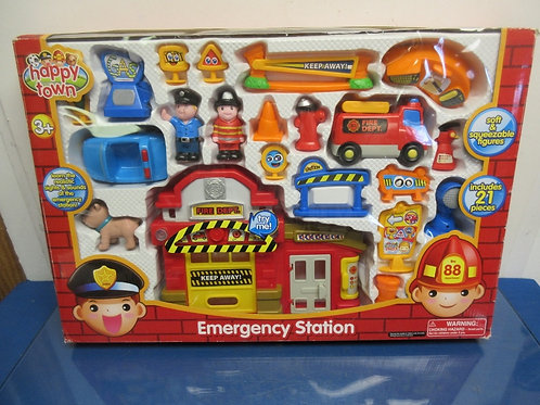 Happy Town Emergency Station Playset-ages 18mon+ Brand New