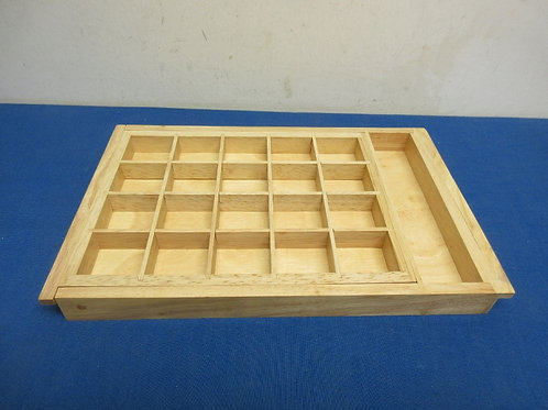 Wooden drawer jewelry organizer with 21 small sections
