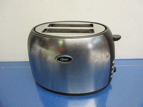 Oster stainless and black 2 slice toaster