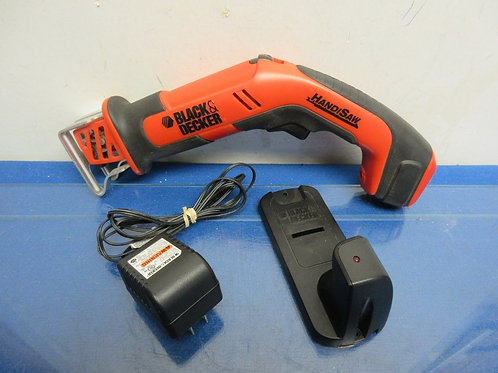 Black & Decker cordless handisaw with charger
