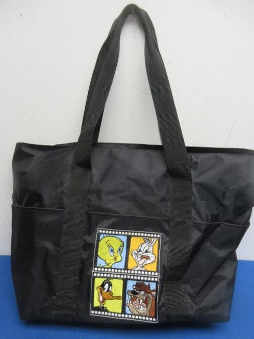 Looney tunes large black tote bag