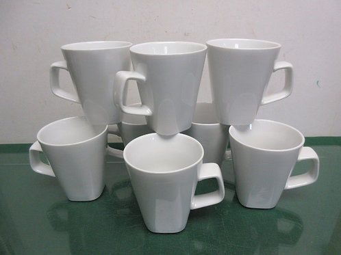 Set of 8 white porcelain Canopy cups