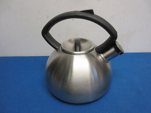 Copco brushed stainless whistling tea kettle